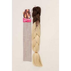 Zenci Örgüsü Saçı, Afrika Örgüsü Malzemesi,Rasta,Topuz Saçı KOYU KUMRAL-AÇIK SARI-OMBRE-T6/613B)