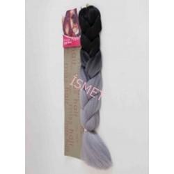 Zenci Örgüsü Saçı, Afrika Örgüsü Malzemesi,Rasta,Topuz Saçı (AÇIK GRİ-T1/LIGHT GREY)